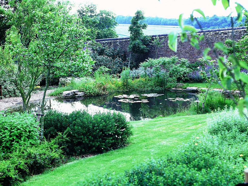 Natural pond and planting design, landscapers, Sarratt nr Chorleywood Hertfordshire