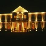Uplit house at night