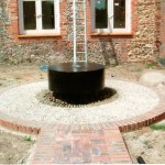 Water feature construction designed by Debbie Roberts MSGD and Ian Smith MSGD of Acres Wild