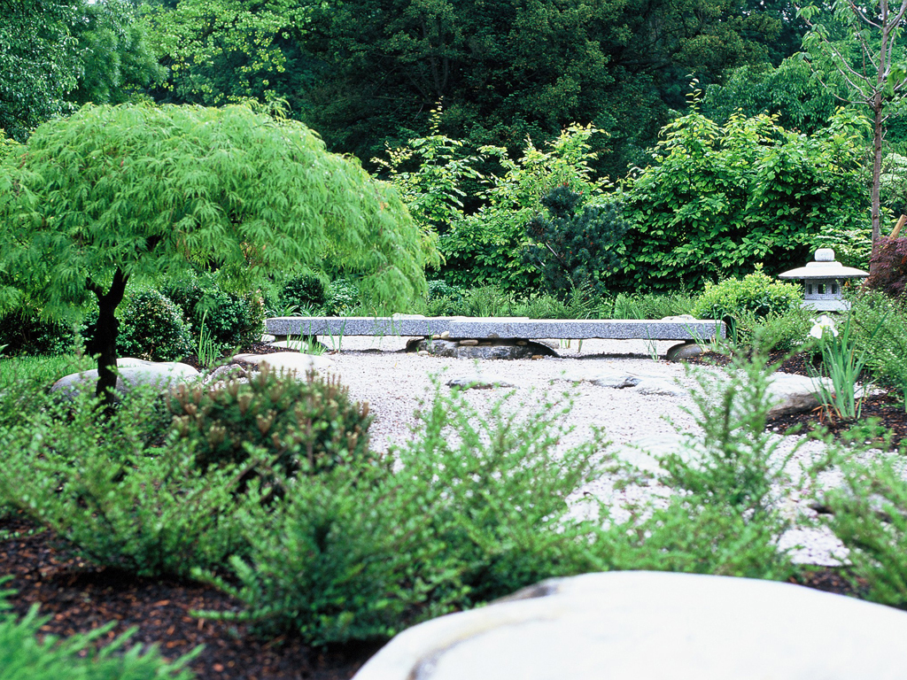 Japanese garden Designed by Acres Wild, landscape construction The Garden Company