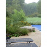 Garden design, pool terrace near Hemel Hempstead, Herts