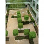 Courtyard design by James Scott, Corporate Head Office, Welwyn Garden City