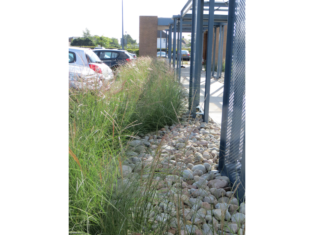Commercial offices landscape construction, Middlesex
