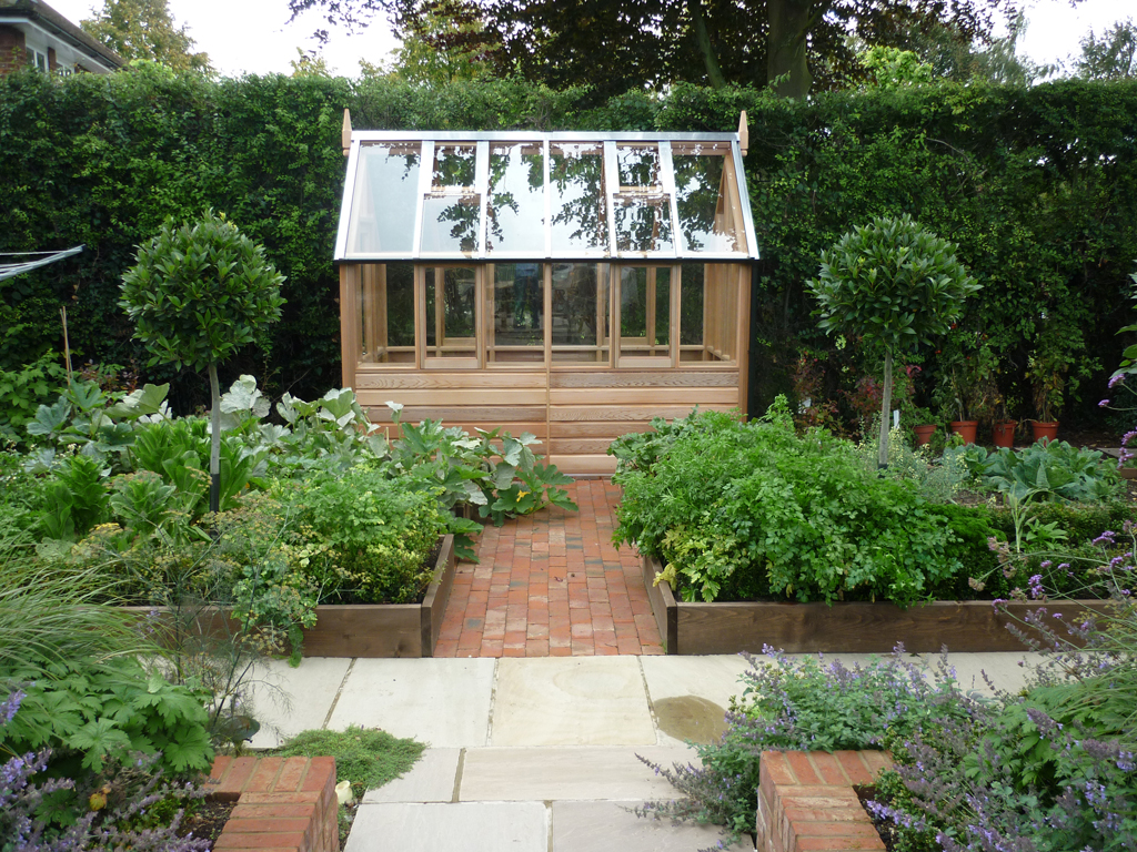 Kitchen garden design, Welwyn Garden City, Herts
