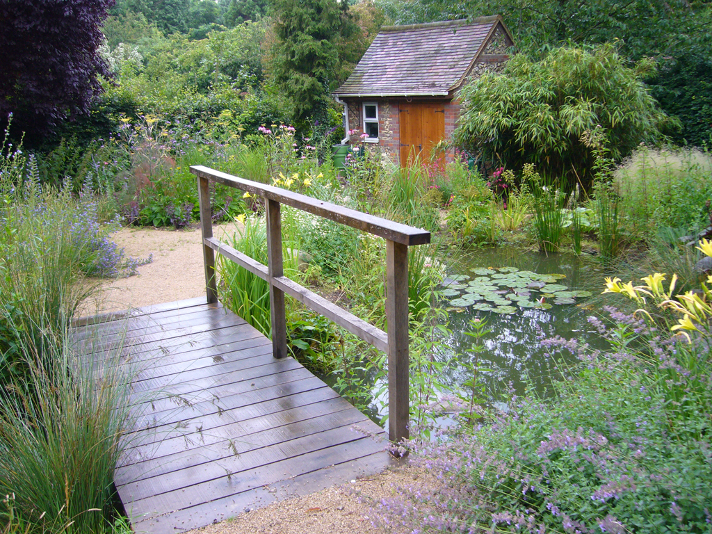 Bridge over water feature, near St Albans, Herts