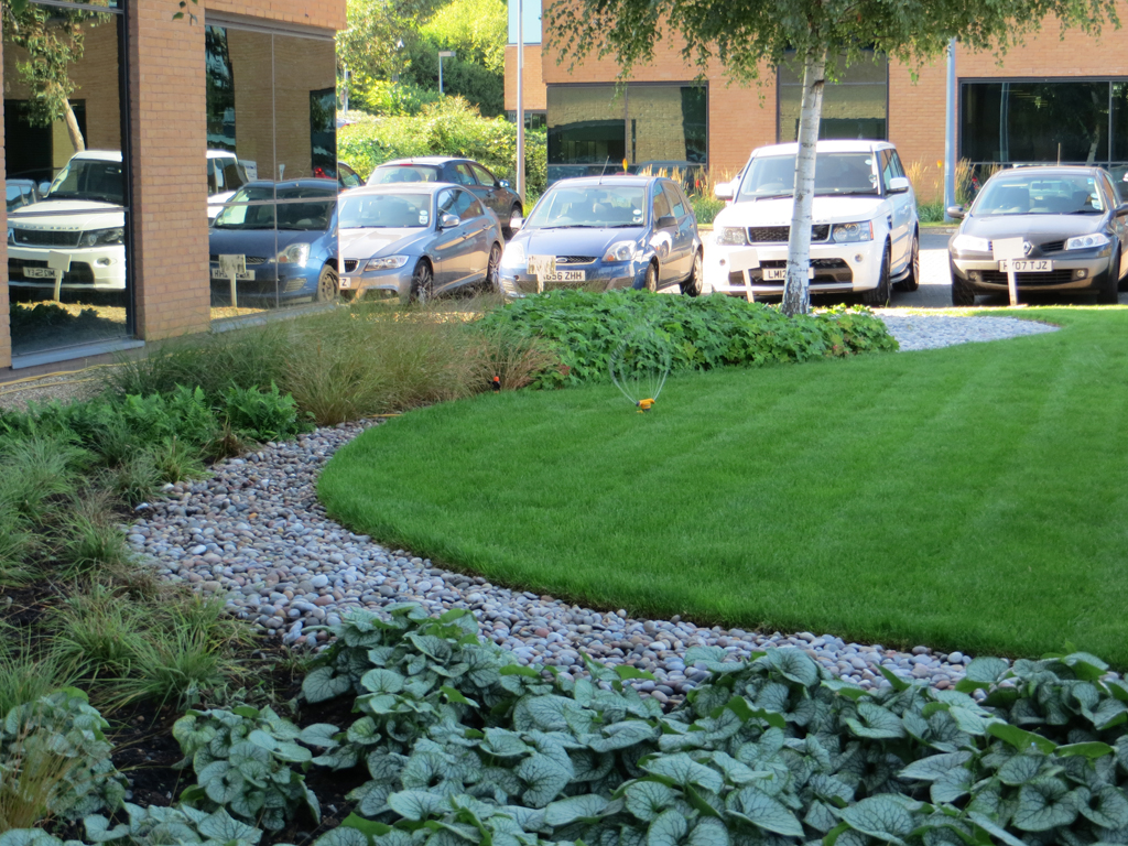Commercial landscaping portfolio odyssey business park for Landscaping business