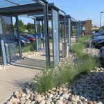 Commercial offices landscaped by CHAS registered design & build company