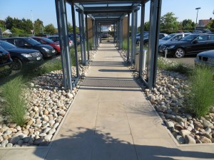 Commercial Business Park hard landscaping