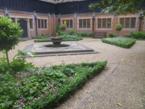 Courtyard soft landscaping Hanbury Manor Hotel, Ware, Hertfordshire