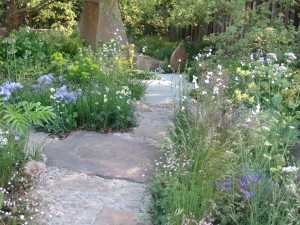 Lovely path detail and planting in Cleve West's M&G Garden