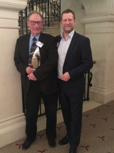 James with John Brookes MBE FSGD who received a Special SGD Award