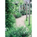 Pergola and gravel walkway