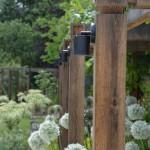 Pergola detail and Alliums designed by Andrew Wenham MSGD