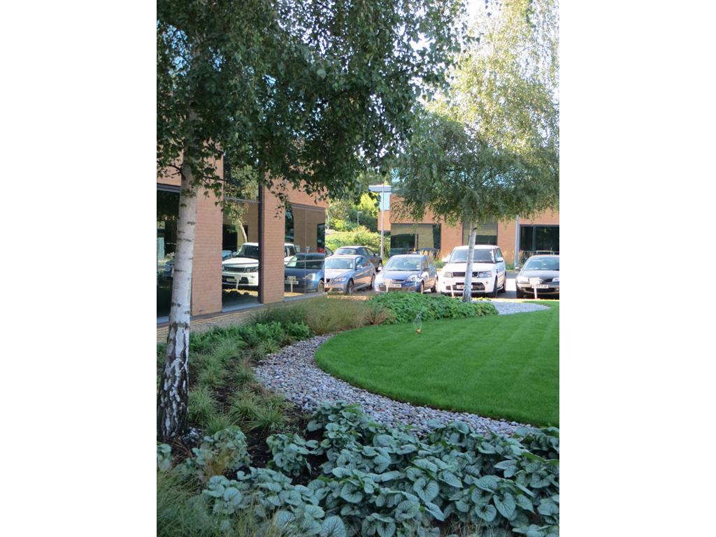 Commercial Offices landscape design by James Scott