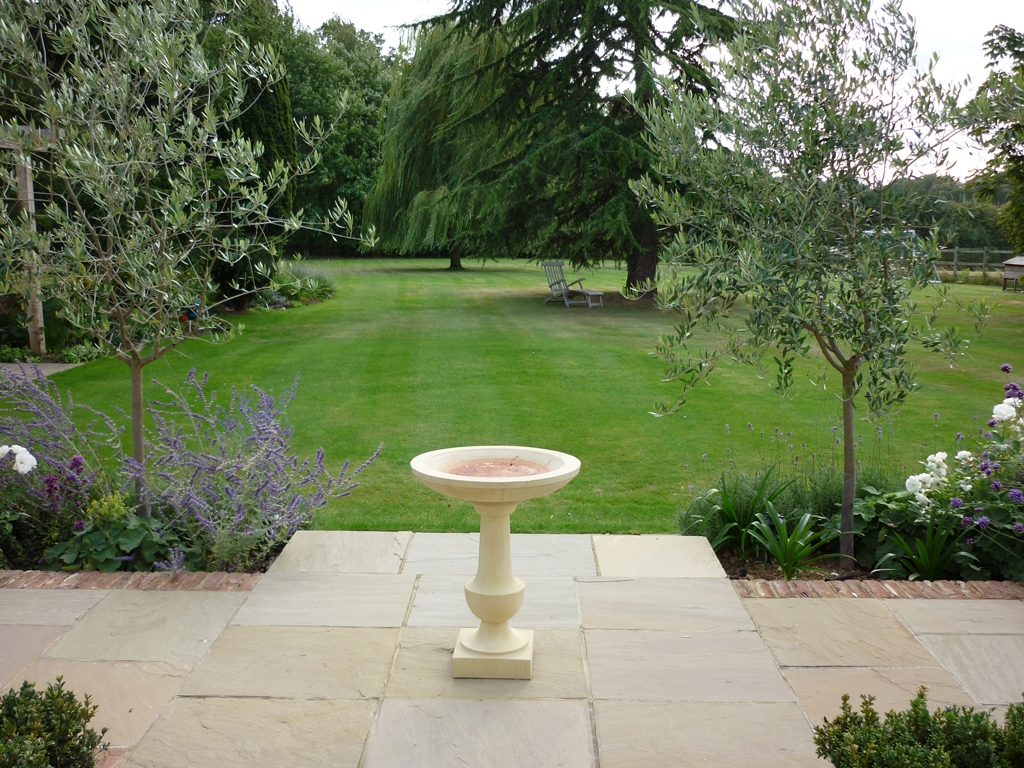 Garden terrace private residence between Tring and Hemel Hempstead, Herts