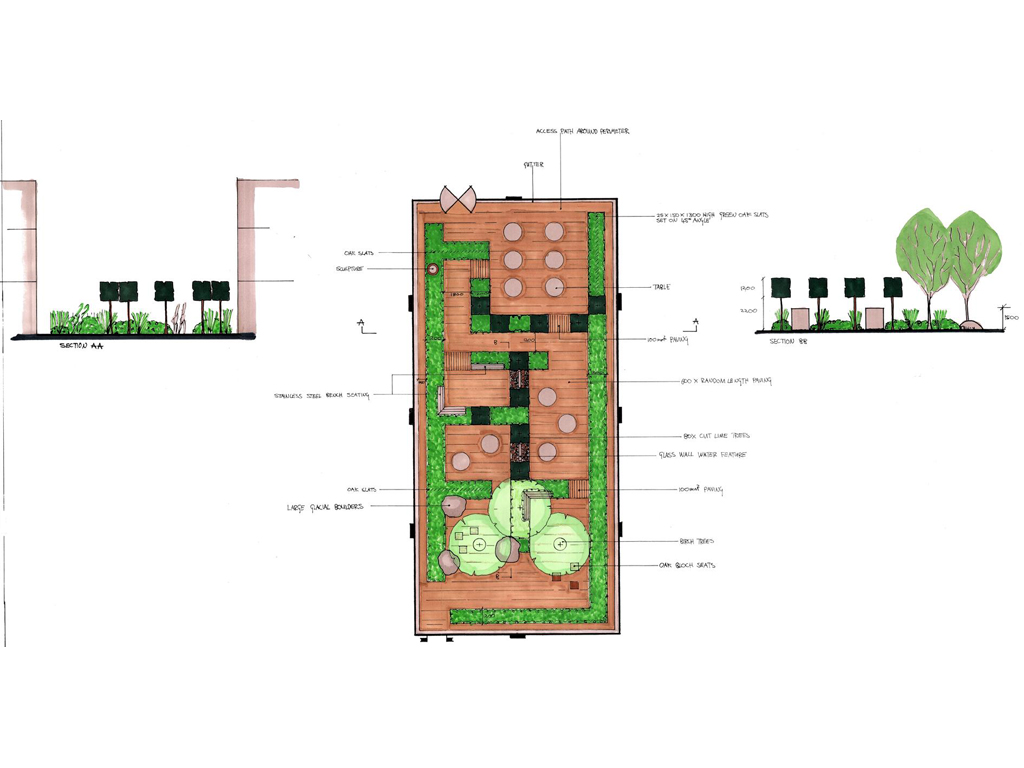 Courtyard design WGC Herts