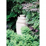 Focal urn within woodland garden design, Leighton Buzzard, Beds