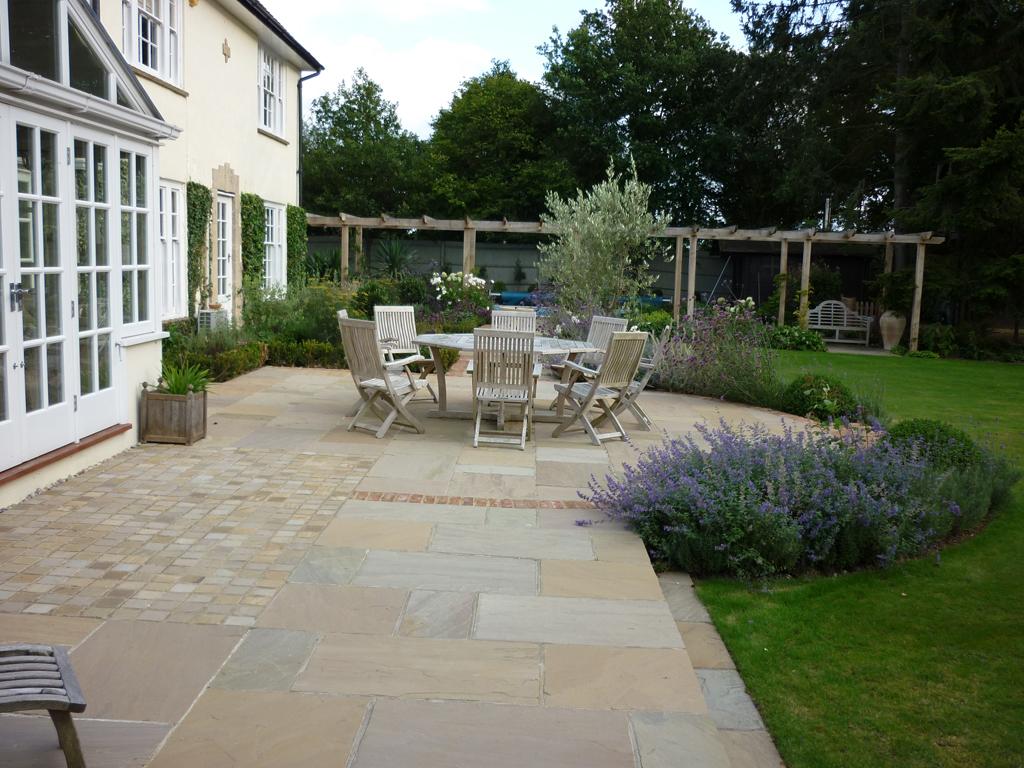Garden terrace private residence near Tring, Herts