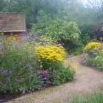 Gravel path design, private garden near St Albans