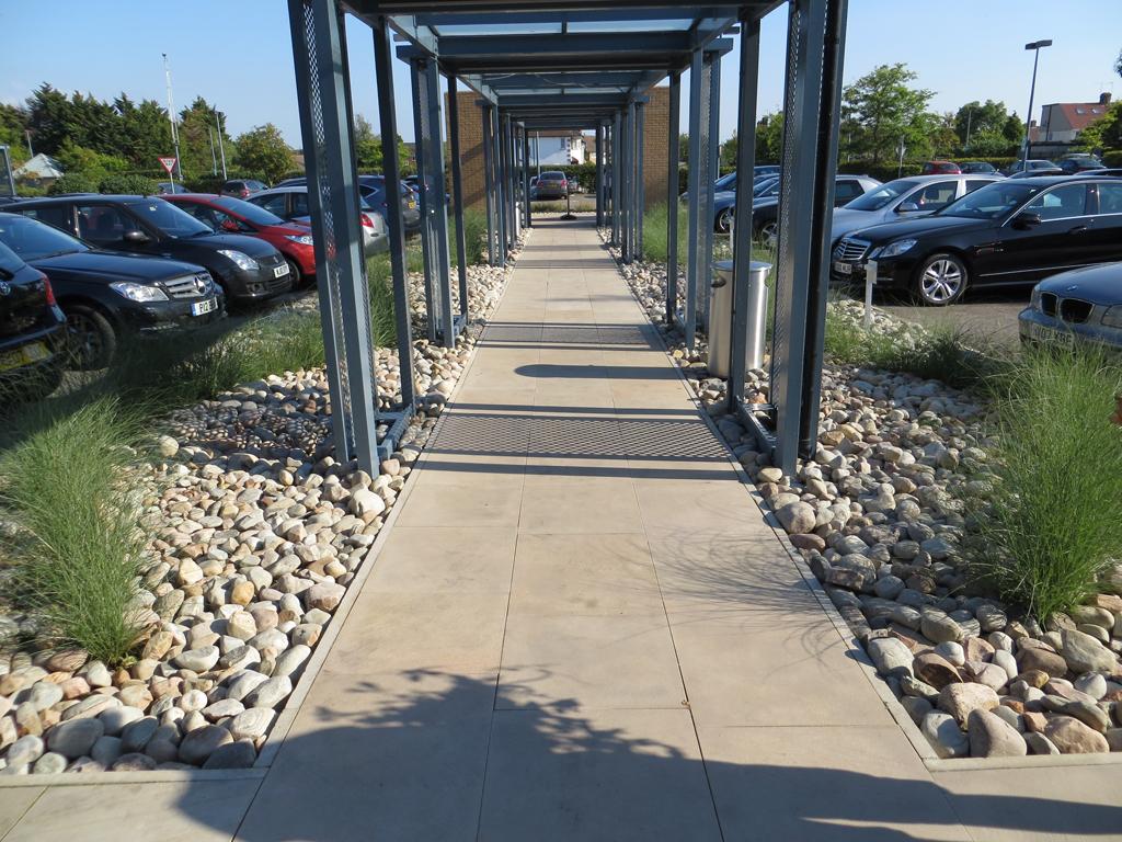 Commercial Business Park hard landscaping