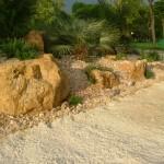 Planting, rock and sand detail 2 on Kew's mediterranean beach garden