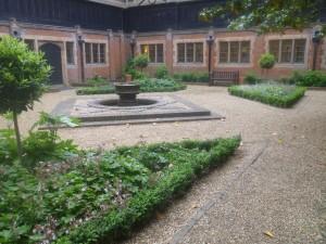 Courtyard soft landscaping Hanbury Manor Hotel, Ware, Hertfordshire