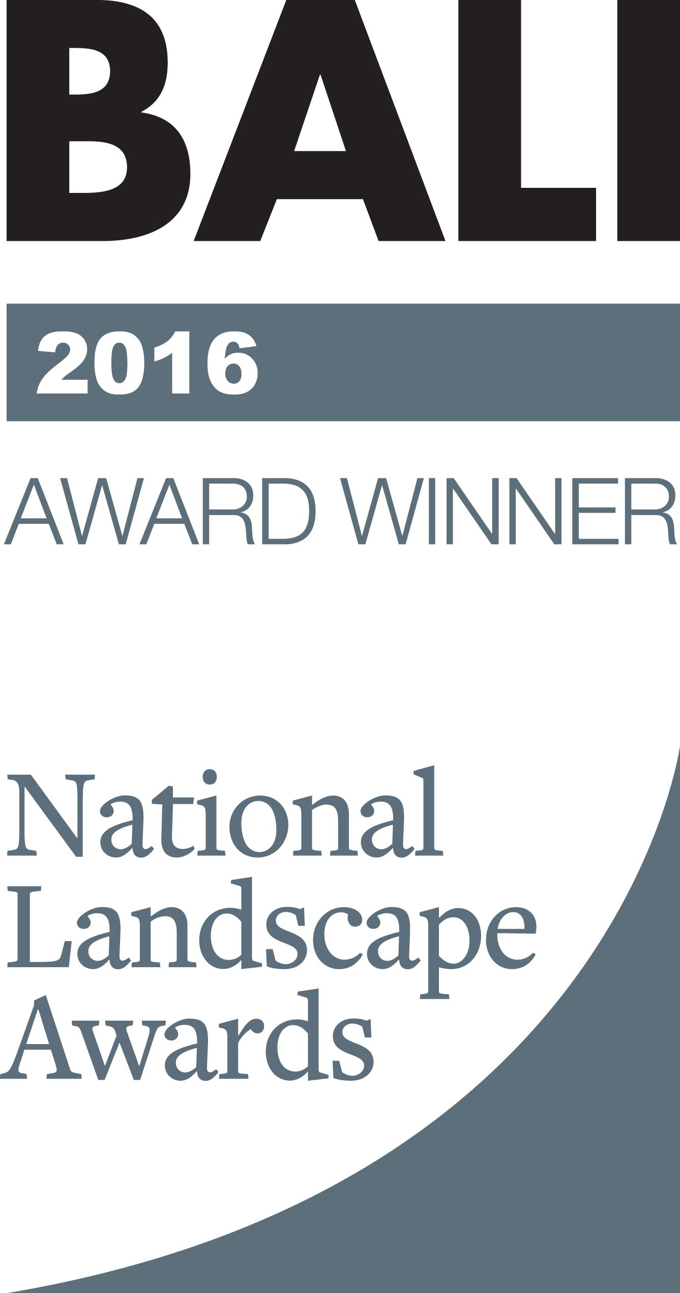 BALI 2016 Landscape Awards Winner