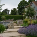 A large garden in Kings Langley maintained by The Garden Company's professional gardeners.