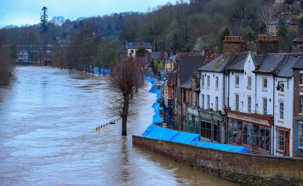 Floodhit areas in the midlands 2020